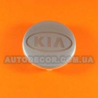 Колпачки заглушки на литые диски KIA (58/49/11) XW0609-8 серебристые/хром лого