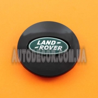 Колпачки заглушки на литые диски Land Rover (63/47/9) AH321A096A-BW BLACK/GREEN
