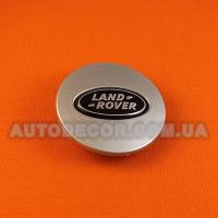 Колпачки заглушки на литые диски Land Rover (63/47/9) AH321A096A-BW серебристые/хром