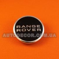 Колпачки заглушки на литые диски Range Rover (63/47/9) AH321A096A/BJ32-1130-AB черный/хром