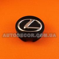 Колпачки заглушки на литые диски Lexus (62/55/20) черный глянец