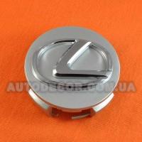 Колпачки заглушки на литые диски Lexus (62/56/19) серебро