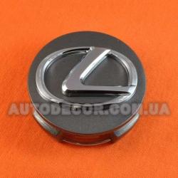 Колпачки заглушки на литые диски Lexus (62/56/19) графит