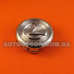 """Колпачки заглушки на литые диски Lexus (63/58/16) хром """"фреза"""""""