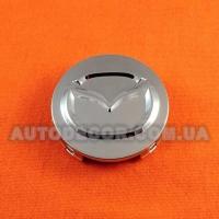 Колпачки заглушки на литые диски Mazda (52/51/7) хром