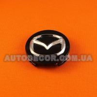 Колпачки заглушки на литые диски Mazda (56/55/7) 167-CAP черные