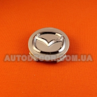 Колпачки заглушки на литые диски Mazda (56/55/7) 167-CAP серебристые
