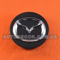 Колпачки заглушки на литые диски Mazda (57/50/14) черный хром M2 37190 К3954