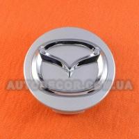 Колпачки заглушки на литые диски Mazda (57/50/14) серый хром 37190 К3954