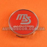 Колпачки заглушки на литые диски Mazda (60/56/10) MAZDASPEED красные