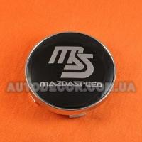 Колпачки заглушки на литые диски Mazda (60/56/10) MAZDASPEED черные