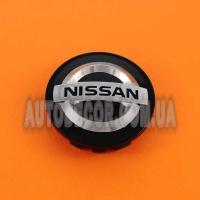 Колпачки заглушки на литые диски Nissan (54/48/10) черные