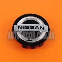 Колпачки заглушки на литые диски Nissan (59/55/7) C-207 черные