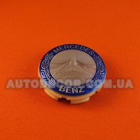 Колпачки заглушки на литые диски Mercedes (58/54/8) герб/темно-синие