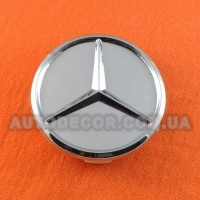 Колпачки заглушки на литые диски Mercedes (60/56/10) серебро хром