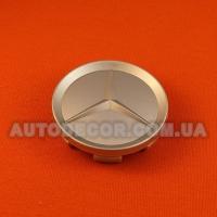 Колпачки заглушки на литые диски Mercedes (64/59/11) серебро глянцевый