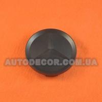 Колпачки заглушки на литые диски Mercedes (64/59/11) черный матовый