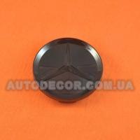 Колпачки заглушки на литые диски Mercedes (64/59/11) черный глянец
