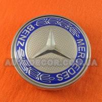 Колпачки заглушки на литые диски Mercedes (68.5/65/10) 36136783536 синие глянец