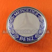Колпачки заглушки на литые диски Mercedes (68.5/65/10) 36136783536 темно-синие