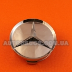 Колпачки заглушки на литые диски Mercedes (75/70/16) хромированные глянцевые