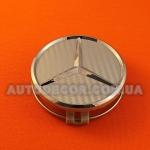 Колпачки заглушки на литые диски Mercedes (75/70/16) карбон серый