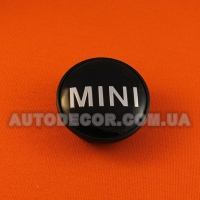 Колпачки заглушки на литые диски Mini (54/44/15) 313-1171-069 черный/хром