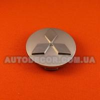 Колпачки заглушки на литые диски Mitsubishi (60/53/10) хром