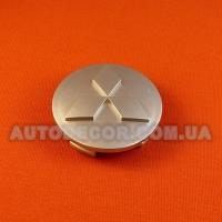 Колпачки заглушки на литые диски Mitsubishi (60/53/10) серебро