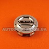 Колпачки заглушки на литые диски Nissan (60/56-57/15) серебро NS-034