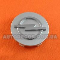 Колпачки заглушки на литые диски Opel (58.5/55.5/11) серебристые