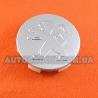Колпачки заглушки на литые диски Peugeot (60/57/13) silver