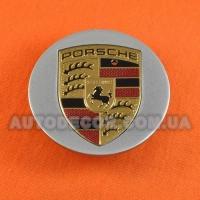 Колпачки заглушки на литые диски Porsche (64/48/14) 95B60150A серебристые глянец