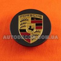 Колпачки заглушки на литые диски Porsche (64/48/14) 95B60150A графит