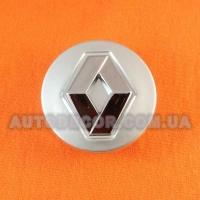 Колпачки заглушки на литые диски Renault (54/49/14) серебро/хром логотип