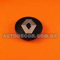 Колпачки заглушки на литые диски Renault (57/50/10) PIE8200043899 черный/хром