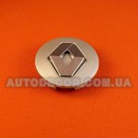 Колпачки заглушки на литые диски Renault (57/50/10) PIE8200043899 серебро/хром