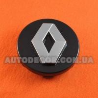 Колпачки заглушки на литые диски Renault (60/57/9) черные/хром