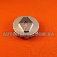 Колпачки заглушки на литые диски Renault (60/57/9) серебро/хром