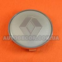 Колпачки заглушки на литые диски Renault (68.5/65/10) 36136783536 серые/логотип хром