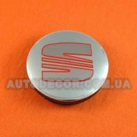 Колпачки заглушки на литые диски Seat 57/51/7 мм 5JA601151A серый матовый