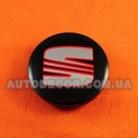 Колпачки заглушки на литые диски Seat 57/52/7 мм 5JA601151A black
