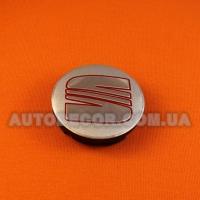 Колпачки заглушки на литые диски Seat 57/52/7 мм 5JA 601 151A серебро/хром