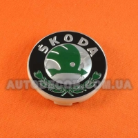 Колпачки заглушки на литые диски Skoda (56/52/7) 1ZD601151A