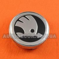 Колпачки заглушки на литые диски Skoda (60/56/10) новый лого