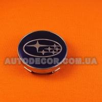 Колпачки заглушки на литые диски Subaru (60/56/10) синие