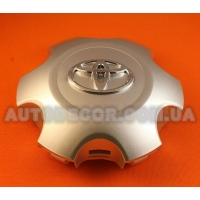 Колпачки заглушки на литые диски Toyota (135/118/27) C6118K135 серебристые