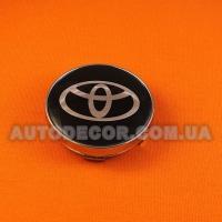 Колпачки заглушки на литые диски Toyota (60/56/10) черные
