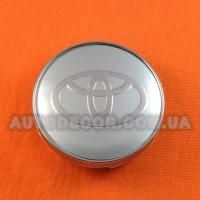 Колпачки заглушки на литые диски Toyota (60/56/10) серебро