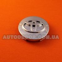 Колпачки заглушки на литые диски Toyota (60/56/9) хромированные